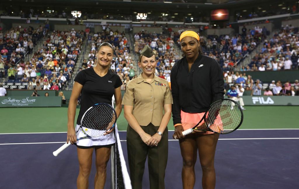 Monica Niculescu şi Serena Williams la Indian Wells