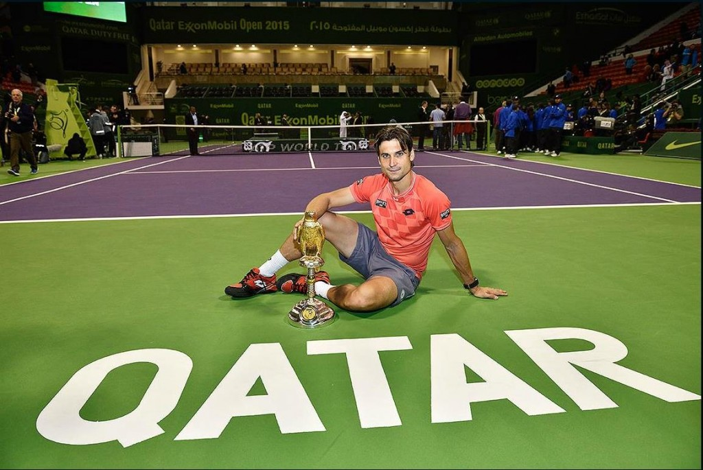 David Ferrer Doha Champion