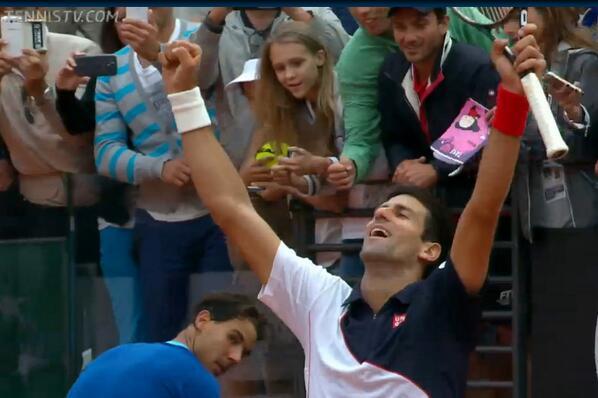 Djokovic winning
