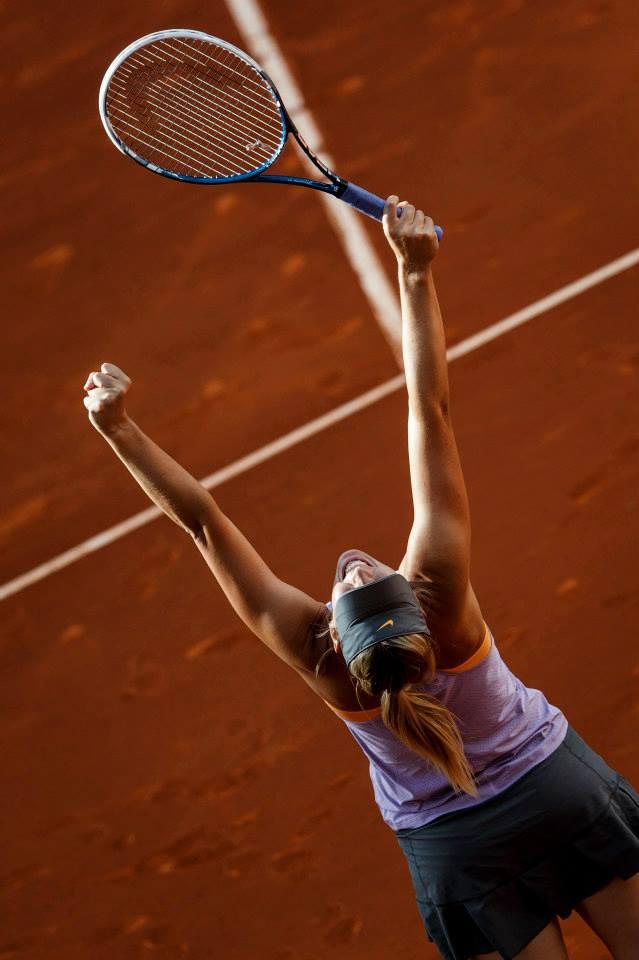 Sharapova winning