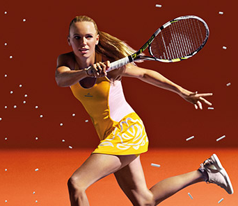 Caroline-Wozniacki-Stella-McCartney-yellow-dress-2015-promo