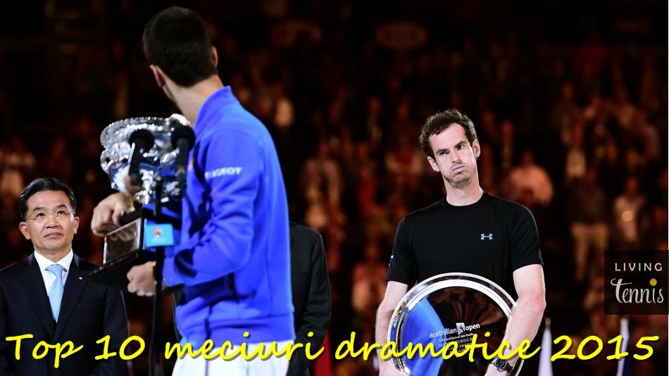 Novak Djokovic și Andy Murray în timpul ceremoniei de premiere la Australian Open. Foto: ausopen.com
