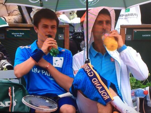 Djokovic and the Ball Boy 1