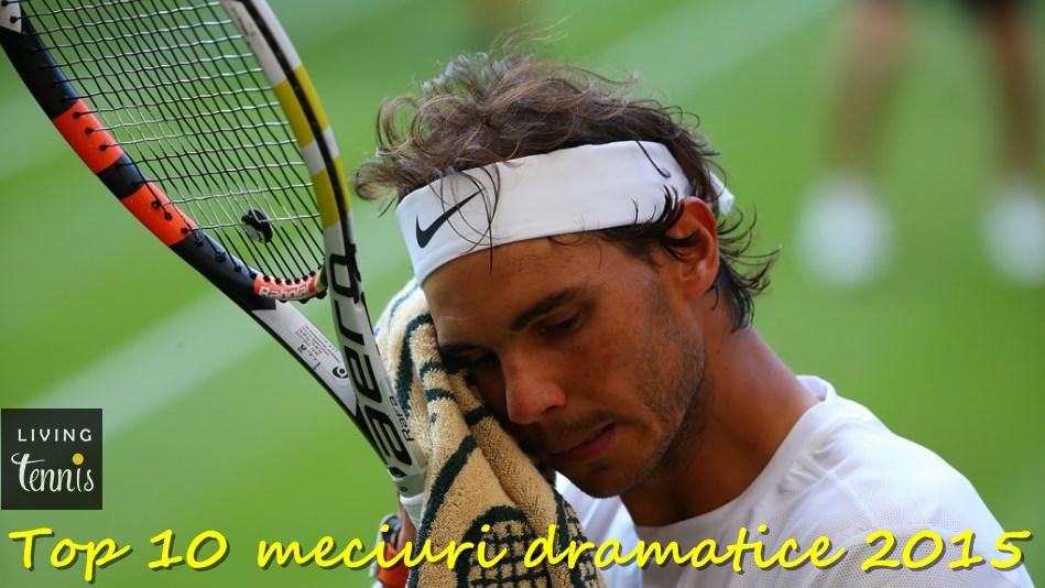 Rafael Nadal în timpul meciului cu Dustin Brown de la Wimbledon. Foto: AELTC.