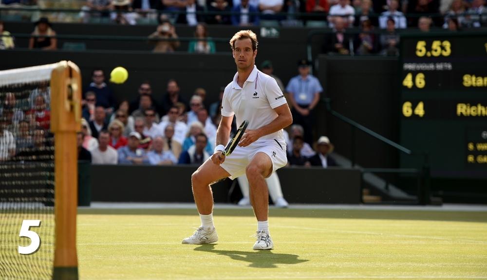 Richard Gasquet în timpulo meciului cu Stan Wawrinka de la Wimbledon. Foto: AELTC.