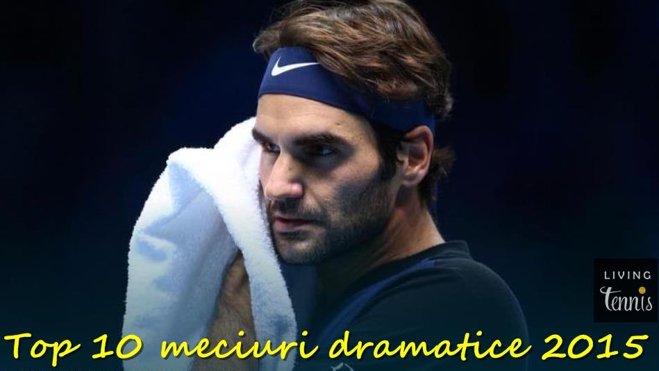 Roger Federer în timpul finalei cu Novak Djokovic de la O2. Foto: ATP World Tour/Getty Images.