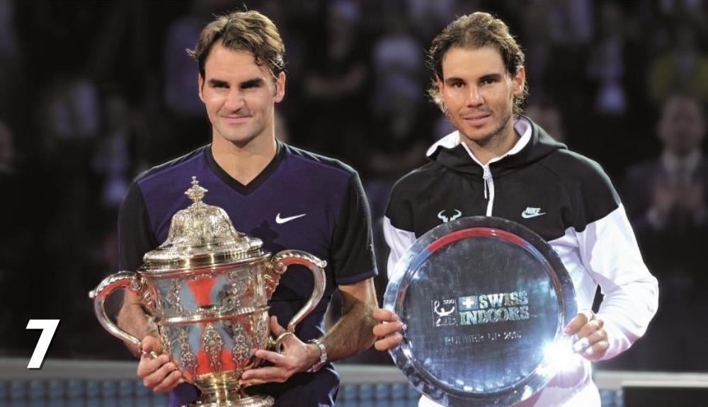 Roger Federer și Rafael Nadal la Basel. Foto: Swiss Indoors Basel