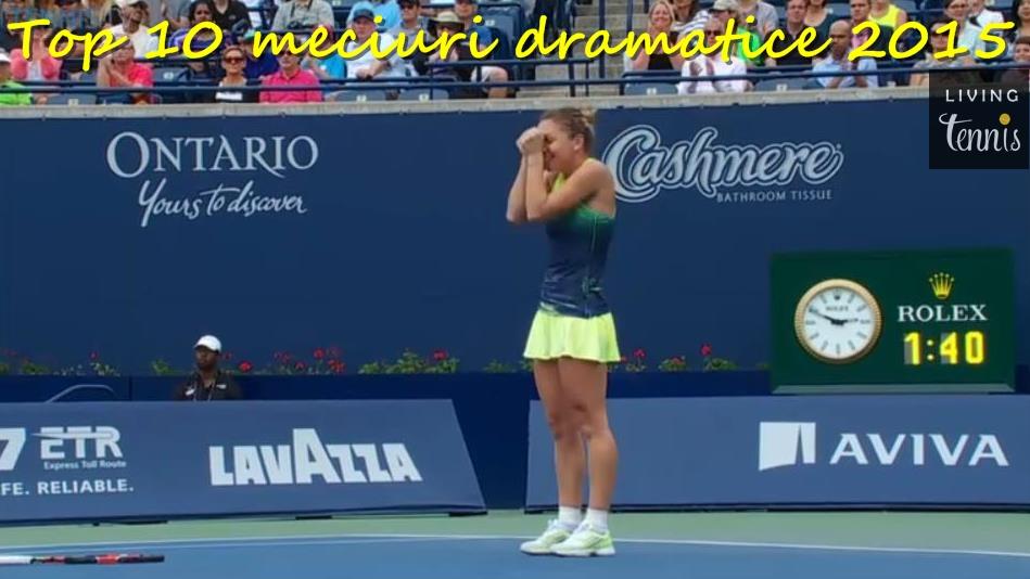 Simona Halep își exprimă bucuria la sfârșitul meciului câștigat împotriva Agnieszkăi Radwanska la Toronto. Foto: rogerscup.com.