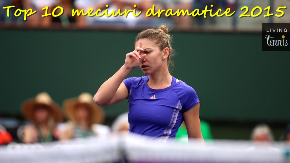 Simona Halep în timpul finalei cu Jelena Jankovic de la Indian Wells. Foto: bnpparibas.com.